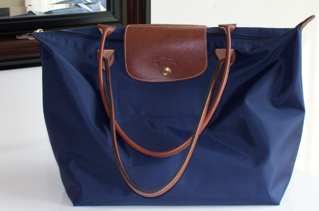 Longchamp Le Pliage Large Tote in Navy Purse