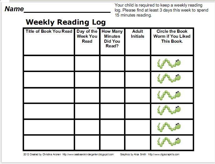 Classroom freebies too reading log freebie for 4th grade reading log template