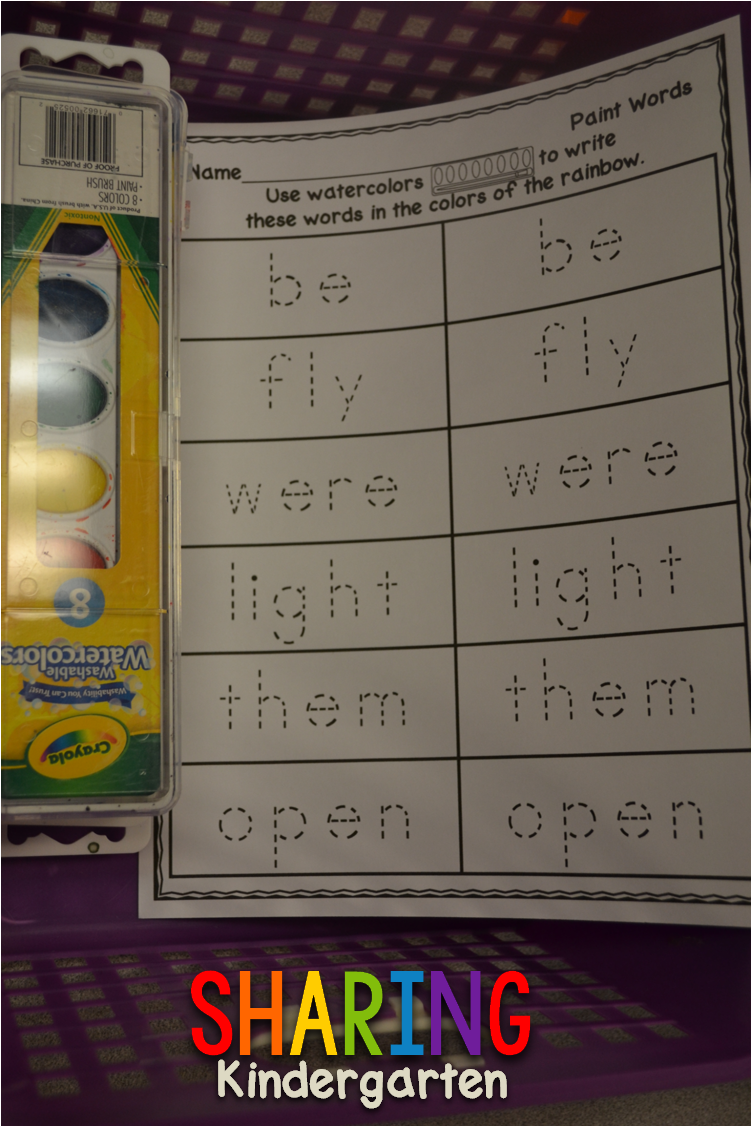 http://www.sharingkindergarten.com/2014/02/sight-word-stations-in-action.html
