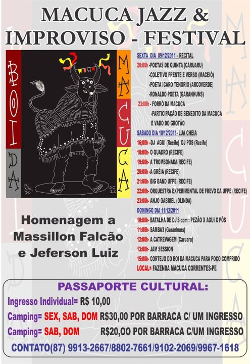Vem ai o Macuca Jazz & Improviso - Festival