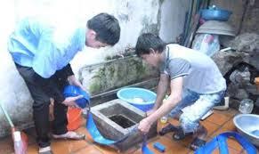 Thau don bể nước ngầm quận Ba Đình