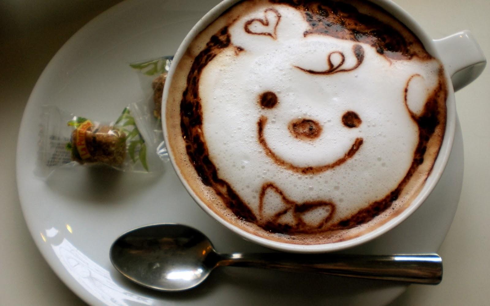 Cara divertida café