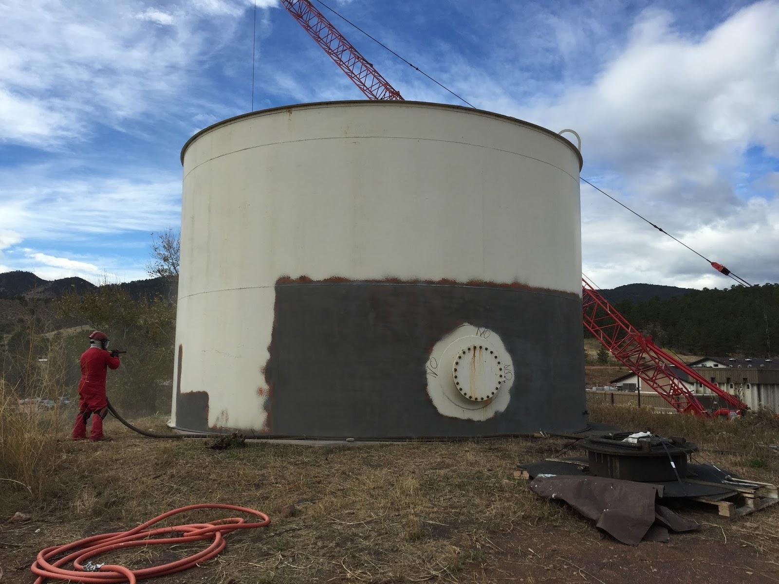 Water Tank Painting : Backwash tank painting base painters