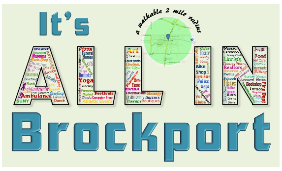 It's all in Brockport within a walkable 2 mile radius.