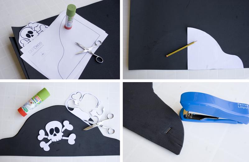 DEF DECO: DEcorar en familia_Disfraz de pirata express: gorro y corpiño2