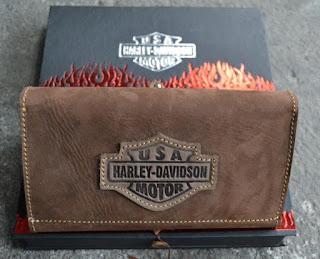 Dompet Kulit Pria Harley Davidson Panjang Premium, Kode D224