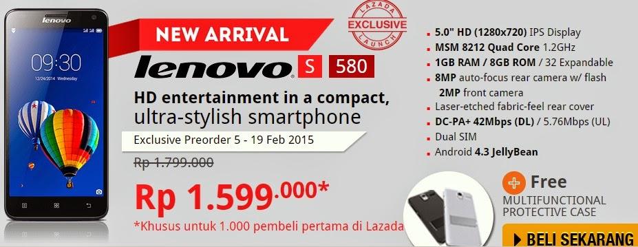 Lenovo S580 Spesial Harga Rp 1.599.000