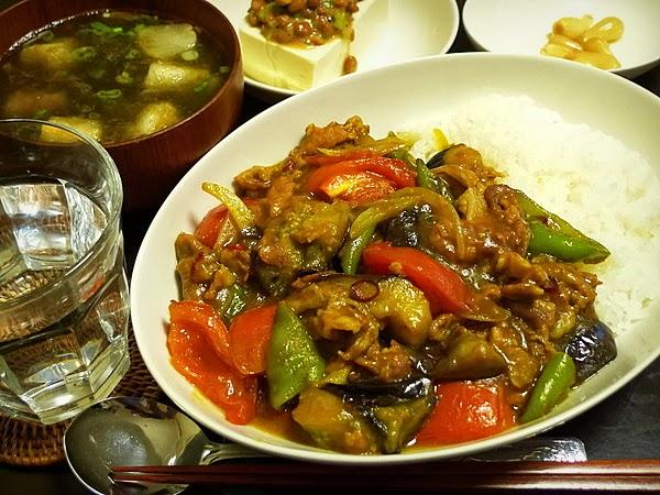 昨日の晩酌 夏野菜の和風カレー