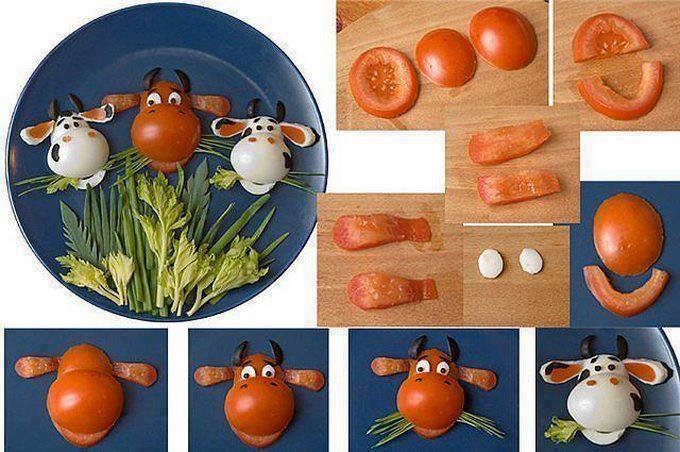 Boiled Egg Face Tomatoes Hard Boiled Eggs