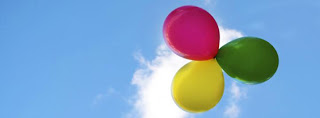 romantic coloured baloons on blue sky cover photo for facebook
