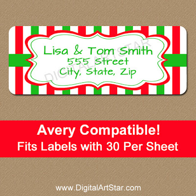 downloadable christmas address labels for the holidays