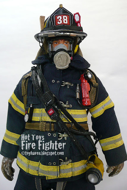 1:6 Scale Real Hero Firefighter Blue t-shirt