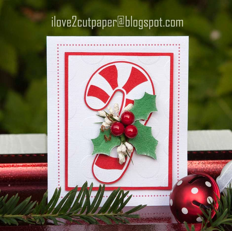 Pazzles Inspiration Vue, paper pieced Candy Cane