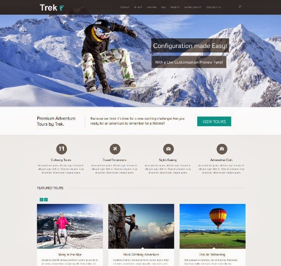 Trek Responsive WordPressTour Travel Theme