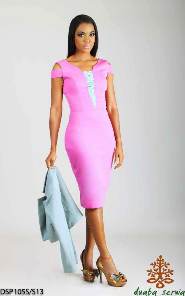 lookbook: Duaba Serwa Spring/summer 2012 pink dress