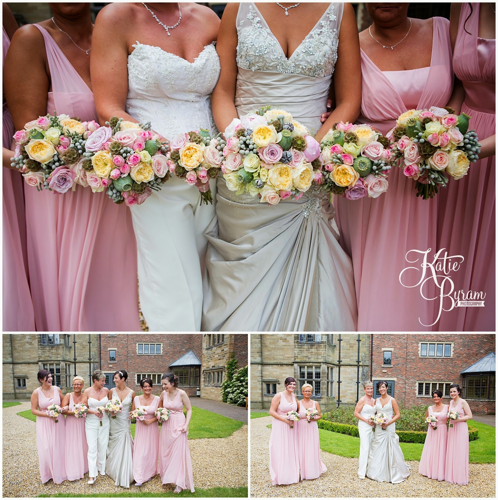 flowerlab, two bride wedding, lesbian wedding, lgbt wedding, gisborough hall wedding, north yorkshire wedding photographer, katie byram photographer, same-sex couples, bex bridal, elizabeth george bridal, north yorkshire wedding venues