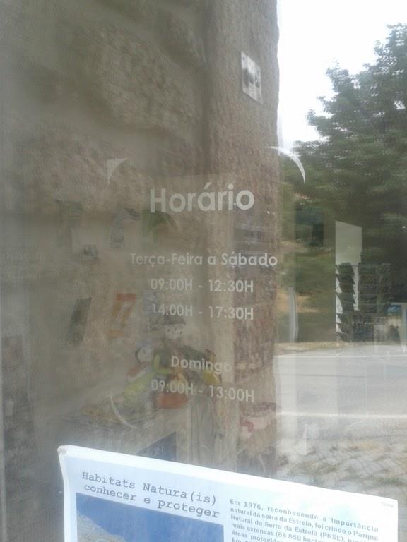 horário posto Turismo da Loriga