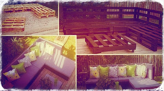 récup de palette pour canapé jardin