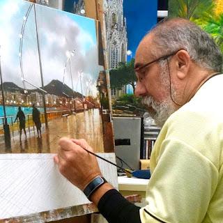 la inspiración de la naturaleza, Arucas, exposición pintor, Juan Alberto Díaz