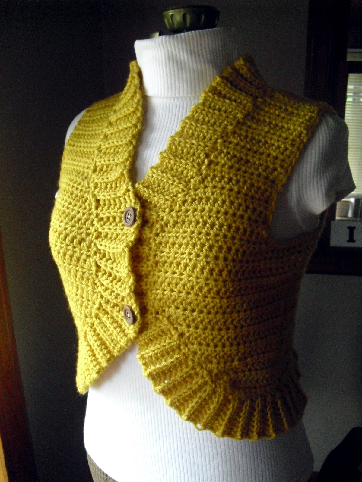 Crochet Vest : LazyTcrochet: New Crochet Vest or Bolero