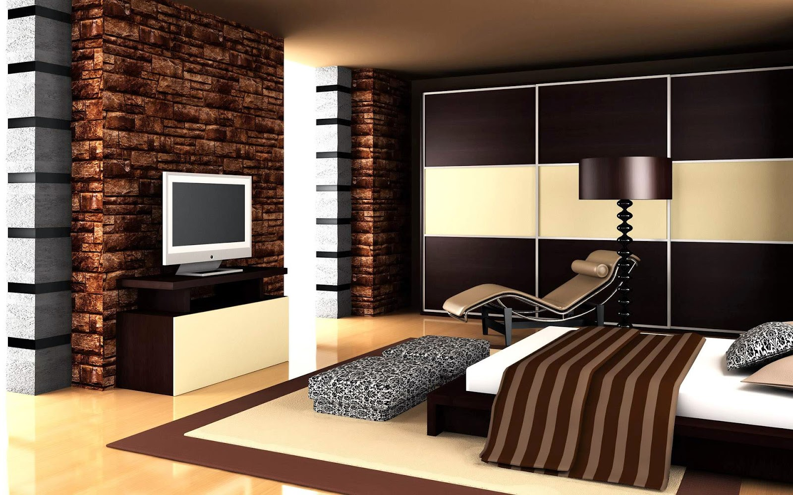 Wonderful Bedroom Interior Design On 2015