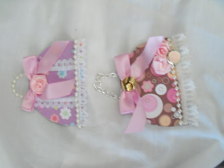 Shabby Chic ATC card purses