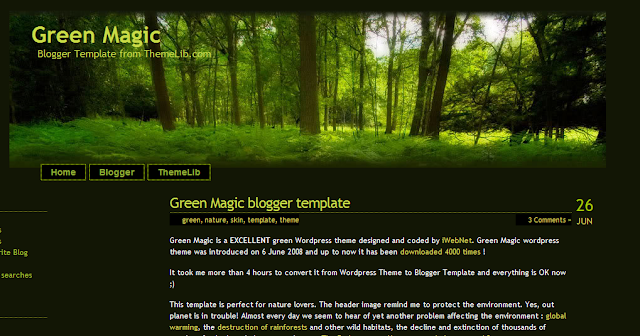 Nature Blogger Template
