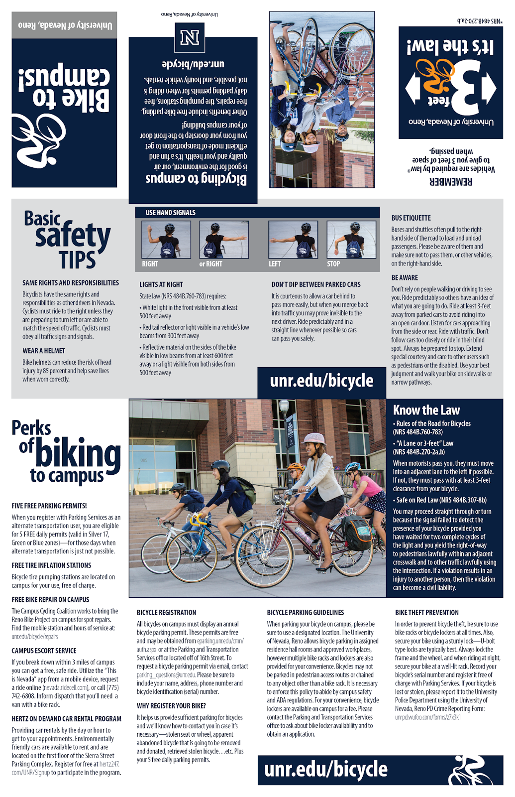 Bicycling to Campus Brochure Page 1