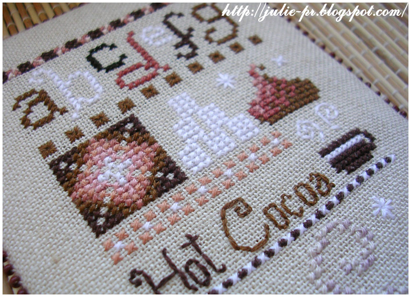 Casey Buonaugurio Hot Cocoa Sampler pinkeep пинкип вышивка cross stitch пирожные