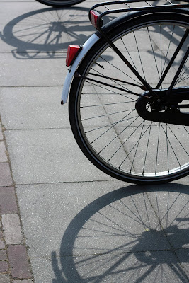 bicycle wheels and shadows