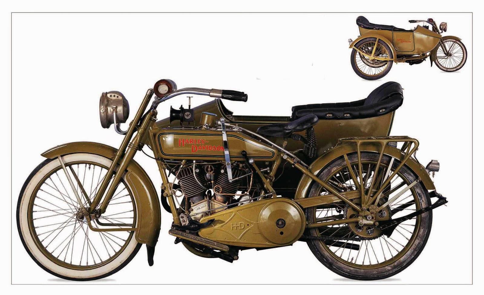Harley-Davidson 1918 Model J Sidecar