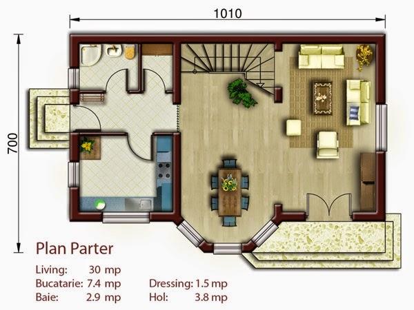 Proiecte case 3 dormitoare si mansarda