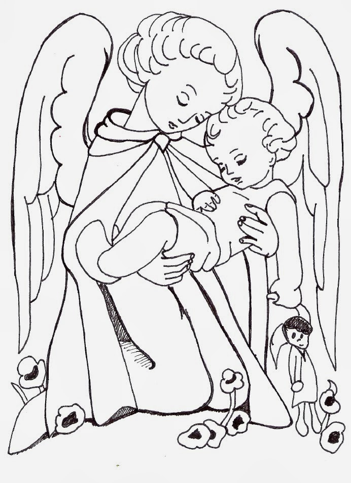coloring pages of guardian angels - photo#8