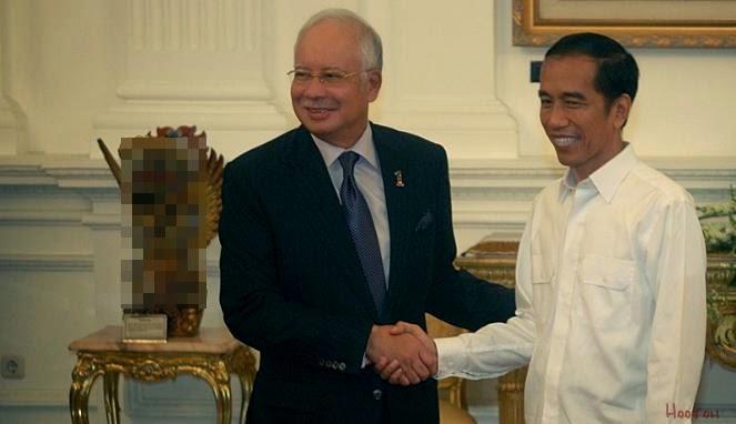 Kata Gurauan Jokowi bertemu Najib Razak