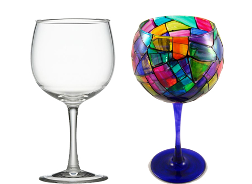 India art n design inditerrain diy hand painted wine glasses for Diy painted wine glasses