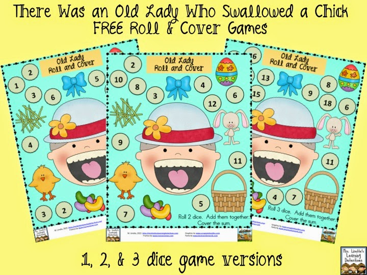 https://www.teacherspayteachers.com/Product/Old-Lady-Swallowed-a-Chick-3-Roll-and-Cover-Games-FREE-1787984