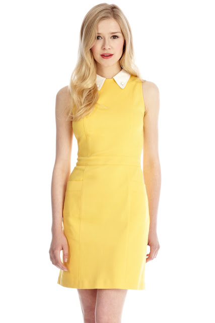 yellow contrast dress