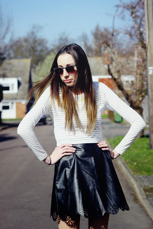 Faux leather skirt, skater skirt, crop top, primark, primark sunglasses, Primark summer collection, platform boots, top uk fashion bloggers, best uk fashion bloggers, cambridge fashion bloggers, sawston blogger, affordable fashion blog, british fashion bloggers, summer fashion, how to style a skater skirt,