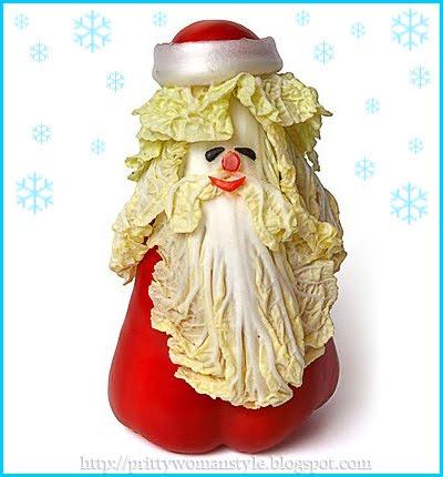 Дядо Коледа от зеленчуци