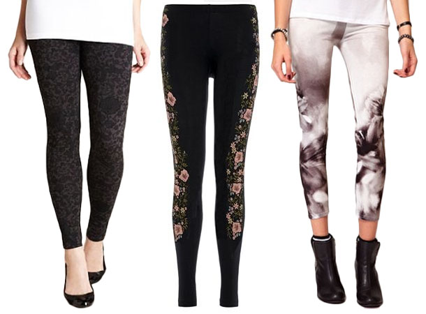 Floral print leggings 3