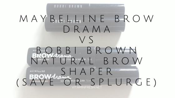 Maybelline Brow Drama vs Bobbi Brown Natural Brow Shaper