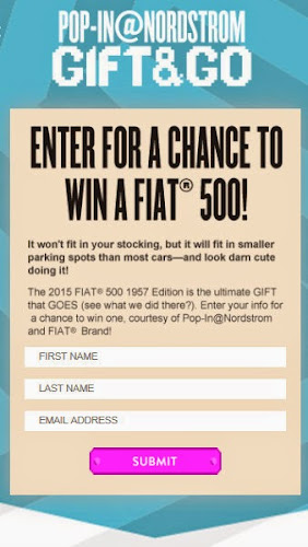 Pop-in@Nordstrom x FIAT Sweepstakes
