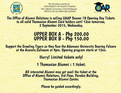 UST Alumni: Watch UAAP Season 78 Opening Live At The Smart Araneta Coliseum