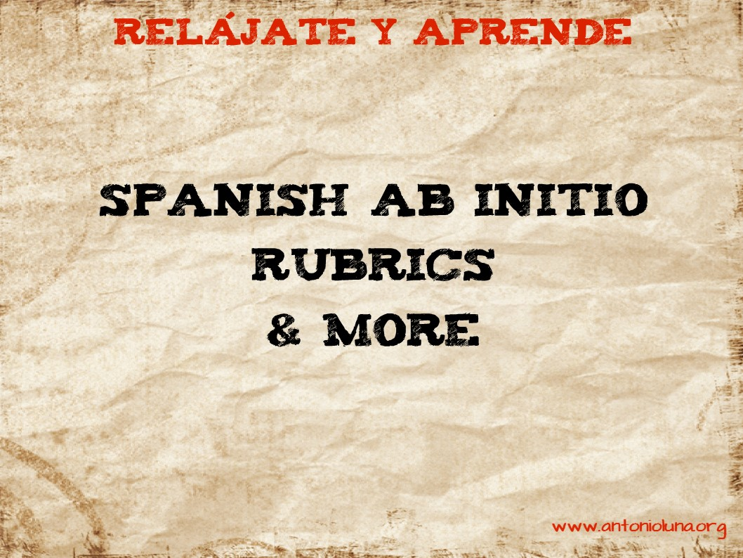 Spanish ab initio written assignment rubric coursework academic spanish ab initio written assignment rubric ib group 2 subjects part of a series listening baditri Image collections
