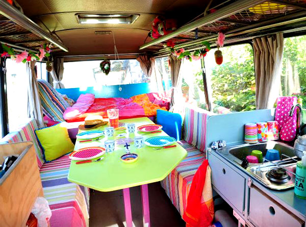 Wanderlust: Glamping in Europe | The Mercedes Surf Bus in De Woude Netherlands