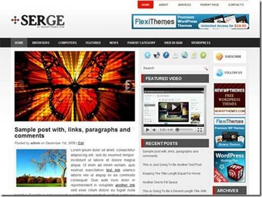 Download Serge WordPress theme