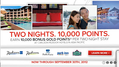 Earn 10,000 Bonus Miles For 2 Consecutive Nights Stay At Carlson Rezidor Asia Pacific Hotels