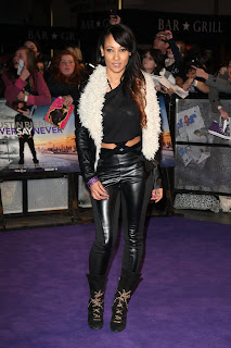 Lisa Maffia at the Never Say Never London Premiere