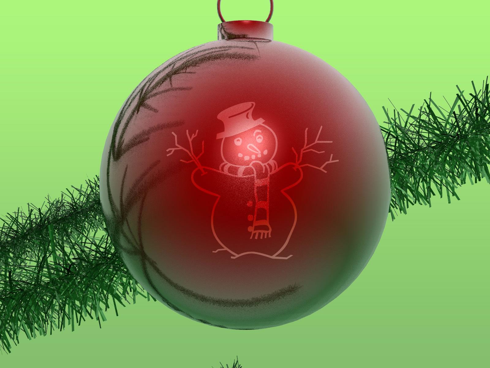 Wallpapernarium bola de navidad color rojo - Bolas de navidad ...