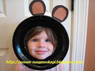 Maschera da Orso con il Riciclo Creativo Piatti